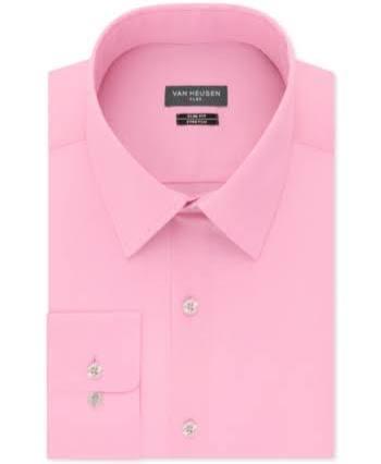 Elástico Y Ceñido Ajustado Corte Hombres 15 5 Vestir Para Heusen 35 Camisa De Rosa Cuello Van Con 34 nWcxgwX