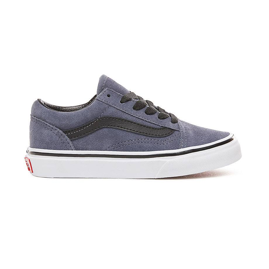Lace Old Bunt K Vans Skool Black White Blue Grisaille gOFqW
