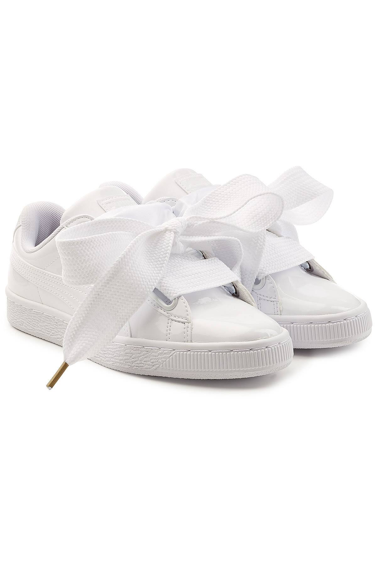 42 Eu Puma Select Patent White Basket Heart x6afvX6