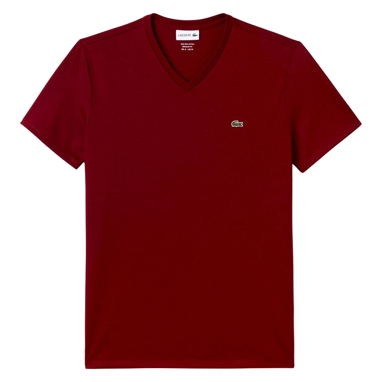 Hombre V Regular Pima Punto Bordeaux Lacoste Algodón En De Para Camiseta Con Cuello pgZwSqnq