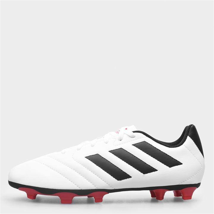 Adidas Goletto Firm Ground Football Boots Childrens - White/Solar Red