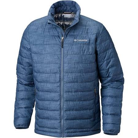 Powder Print Dark Mountain Crosshatch Blau Lite S Jacke Columbia Weiß 0qpAwn
