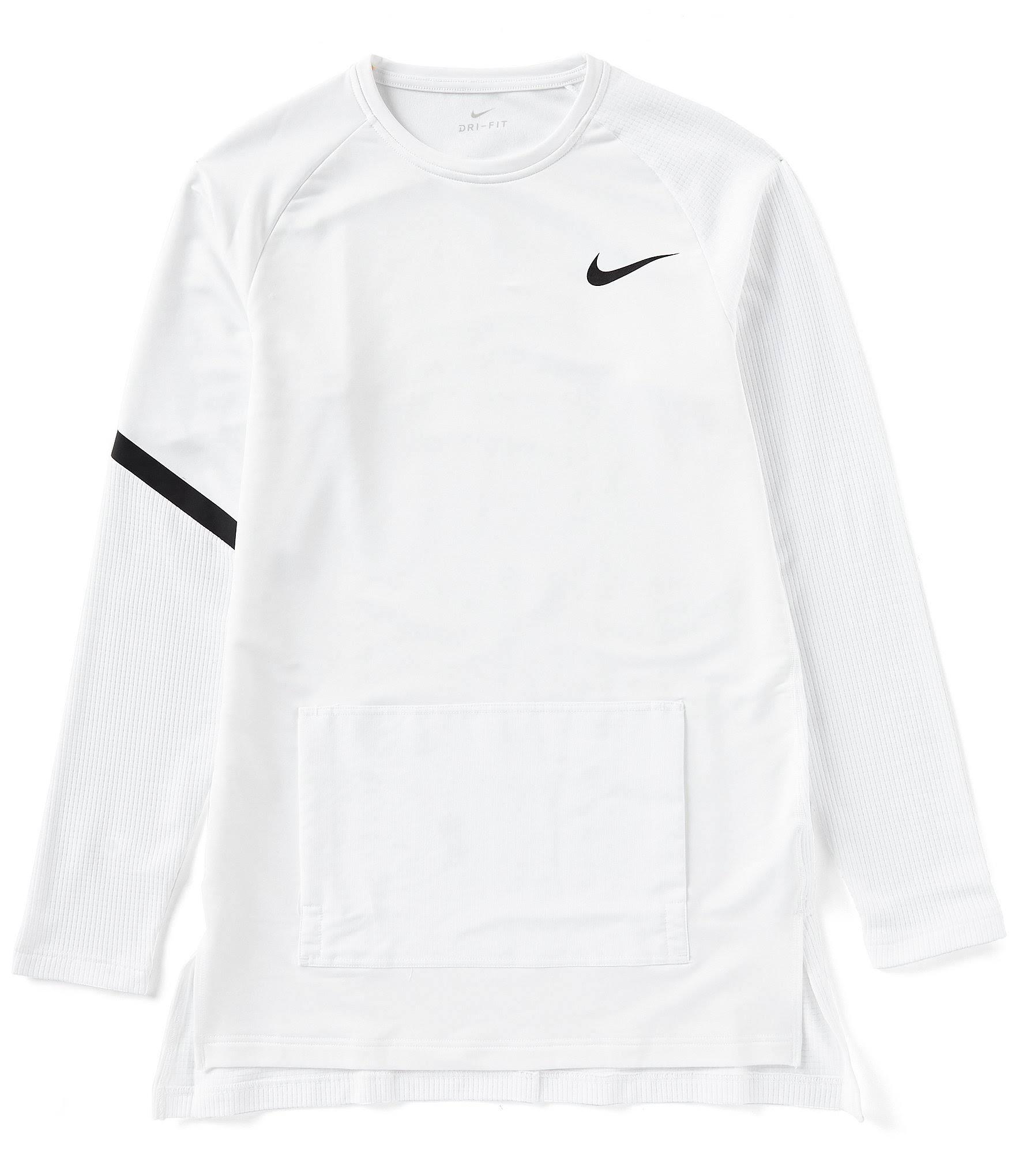 Größe top Nike Pro weiß Langarm M Männer wIwgqHU