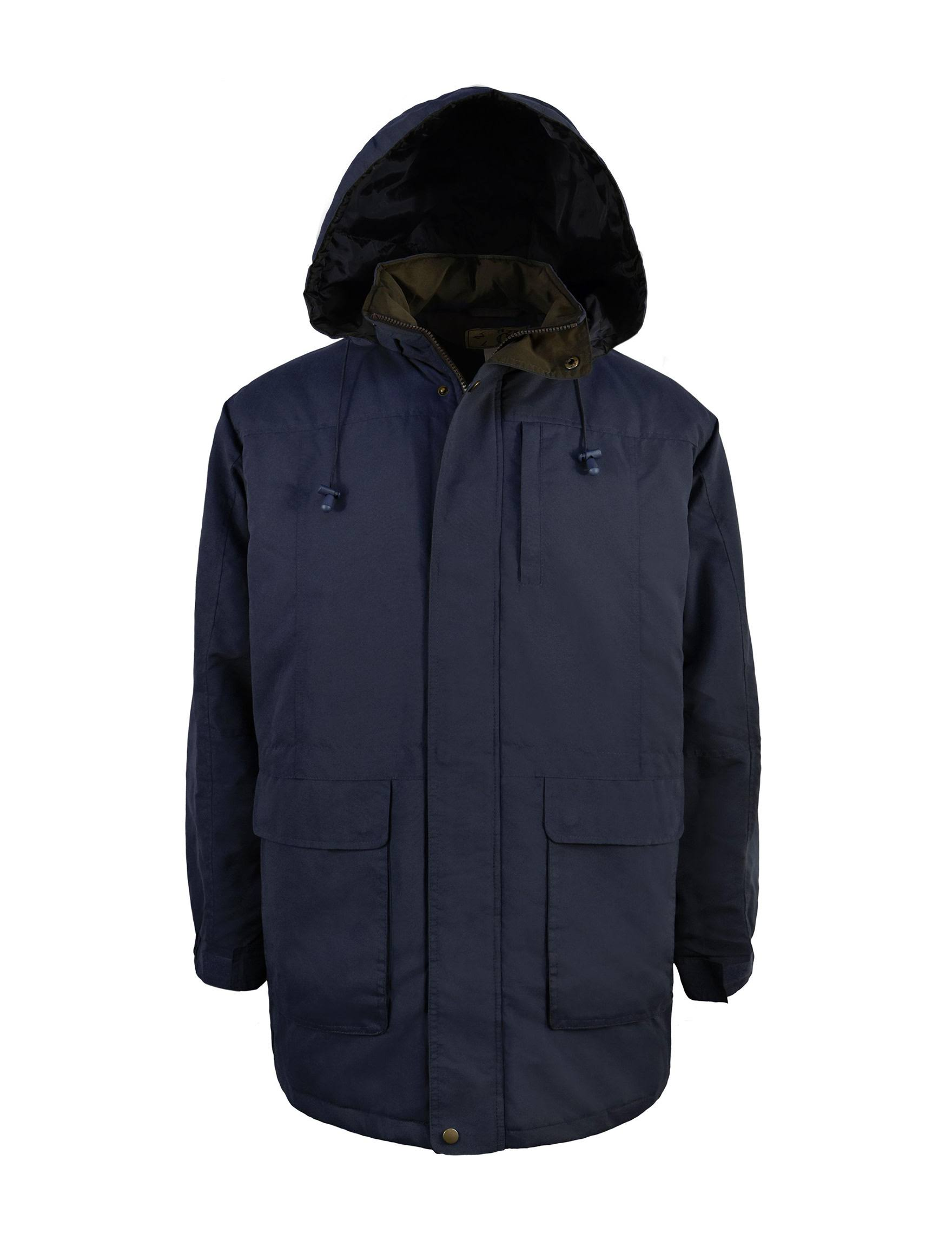 Acolchado Victoria extragrande Outfitters Y Con Parka Capucha Azul De Azul Para Forro Hombre Microfibra Marino qw6f46x8