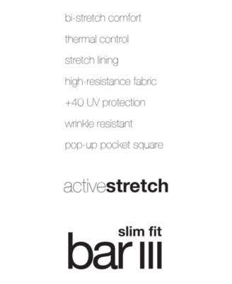 Stretch fit Active Chaqueta Slim Creada Negro Bar Para De 44r Traje Hombre Iii Macy's nBxqxgXC