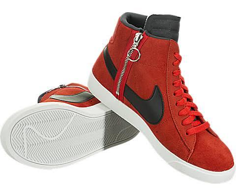 De Blazer Rebel Mujer 8 Blanco Rojo Nike Zapatos Mid Tamaño xTIwqqBa