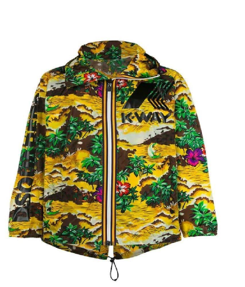 Dsquared2 X Tropical K way Amarillo Con Chaqueta Capucha q1Tzqw4