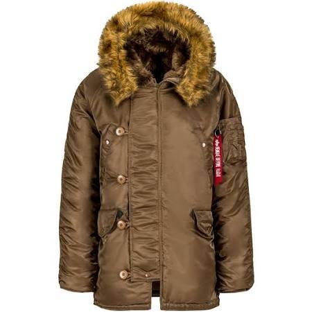 Parka Invierno Regular 3b N Brown Industries De Inspiración Parkas Alpha Xs Nylon Militar Coyote rF5qwrO