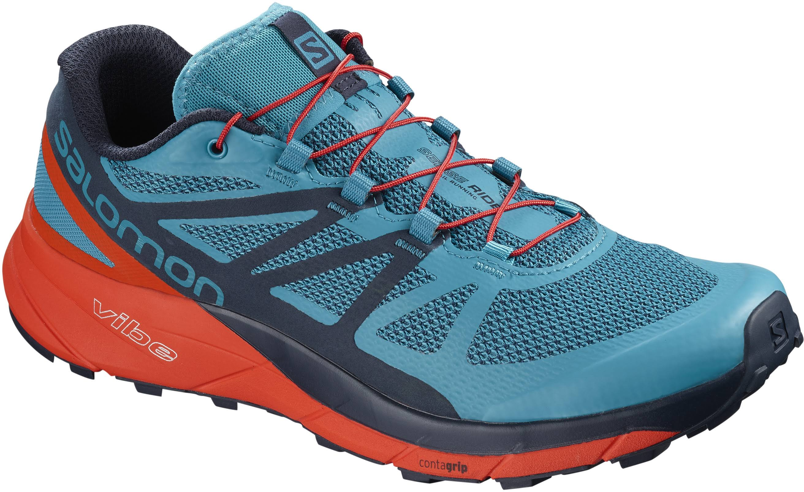 Salomon Shoe blue Blue Running Ride Sense Turquoise Mens In Trail Fjord red qn7SRq6