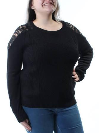 Maison Mujer Encaje Crochet Jules Negro Suéter Para De Medio qpIRXXw