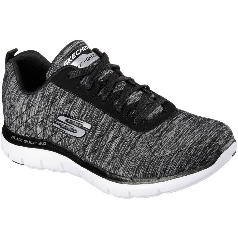 Skechers Women's 2 Zwartwit Fashion Flex 0 Appeal Sneaker Sport nO0kwP