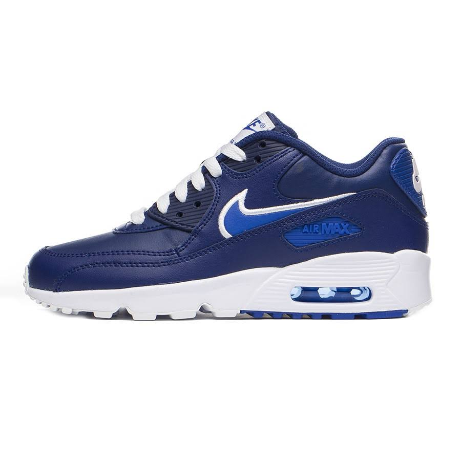 Azul Nike Leather Tênis Masculino Air Gs Max 90 Infantil 8IIRwqd