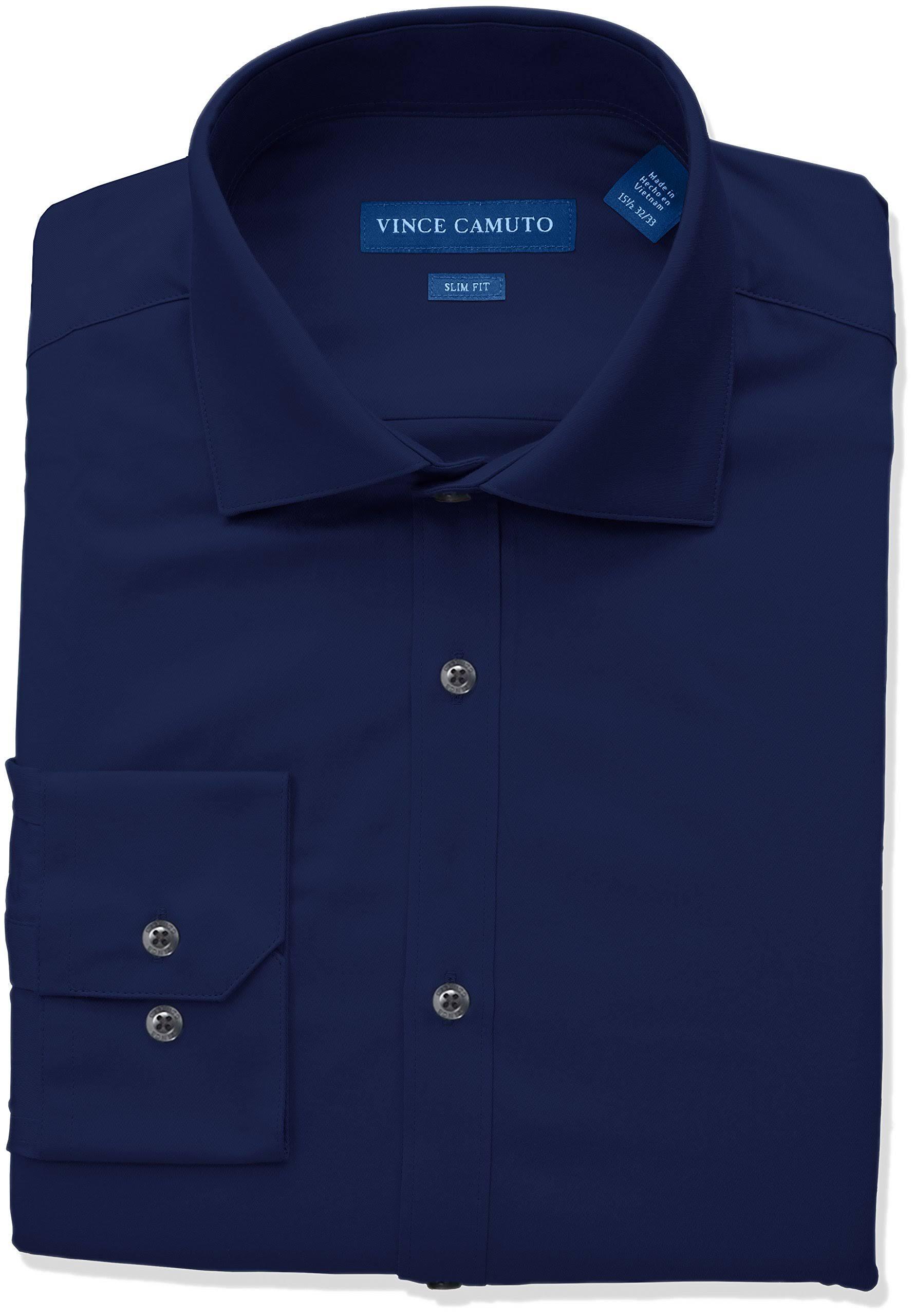 Sólida Camisa Cuello De Alto Y Con Para Hombre Escote Vestir Vince Ajustado Camuto EEq6wR
