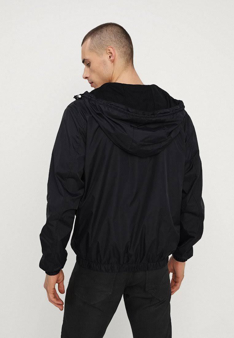 Capucha Hombre Nylon Chaqueta Negro De Calvin Logo Klein Con M xFHqwq4B