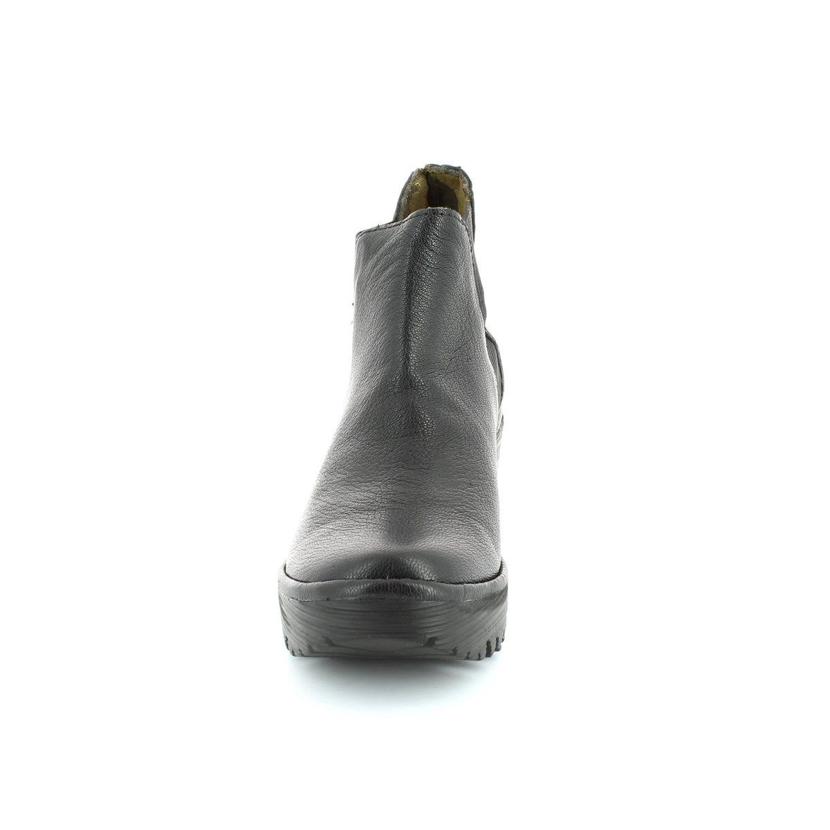 Eu 7 Ankle Black 5 London Fly Leather Boots Yoss Uk 41 YEtfw8q