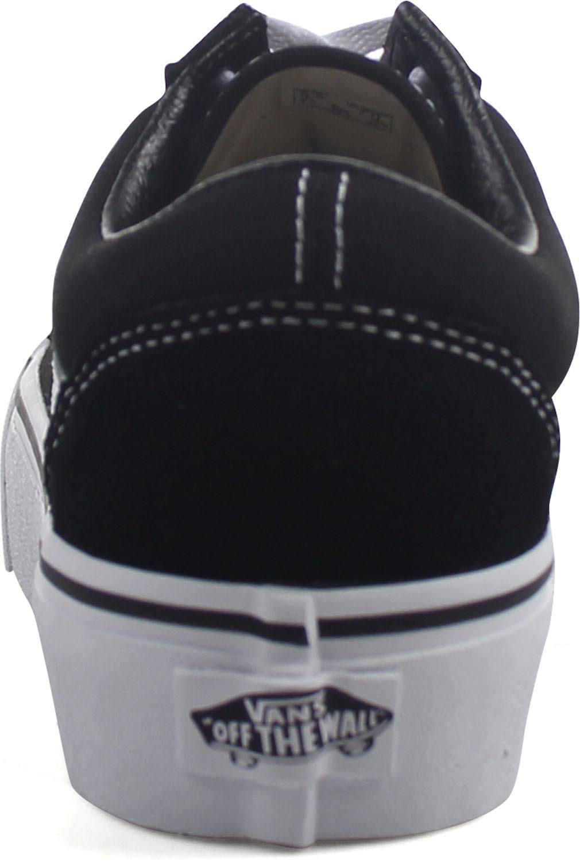 Old Skool Vans negro Platform Blanco xvaWq41