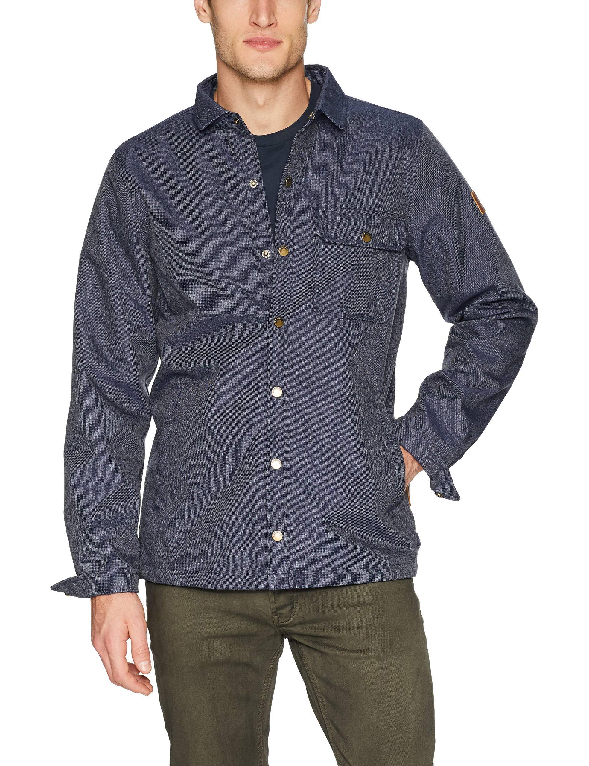 Quiksilver M Wildcard Hombres Los Talla Azul Camisa Denim Sobre De La rrxvw1Uqg6