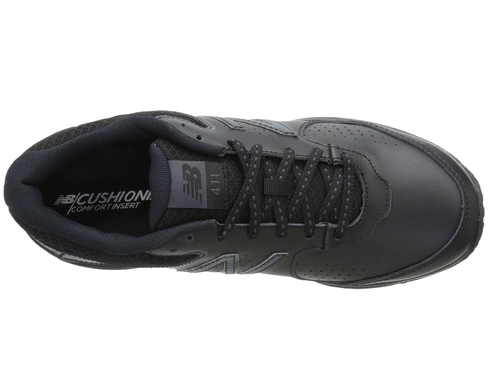 Black Ww411 Toe New Mujeres Balance Walking Round Leather Ww411bk2 nBw6f1xYq