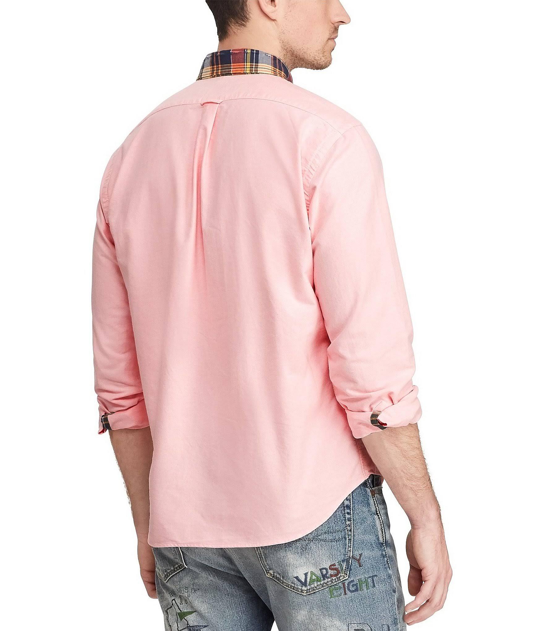 Lauren Rosa Oxford Camisa Corte Ralph Hombres De Clásico Polo Para L zFUw5qxn