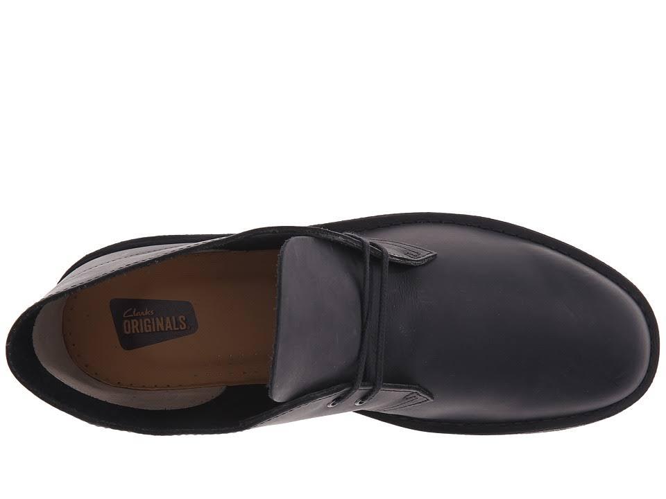 9 Desert 5 Leather Desert Black Boot Smooth Clarks D9I2WEH