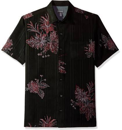 Rojo Para Corta Hombre Heusen Manga Negro Polinesio Van Camisa Estampado Con De YqwpPU