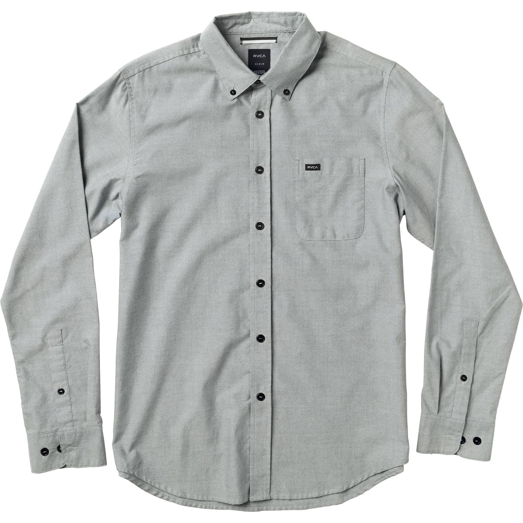 Oxford Rvca Larga De Do Pav Manga That'll Hombre Camisa Pavement CwPOtqnvA