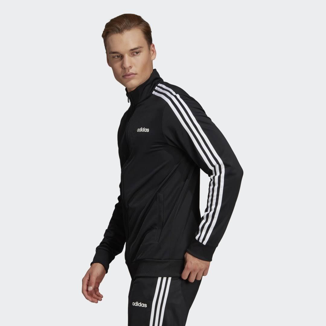 Adidas 3 Stripe Tricot Track Top Black  YNnJHhk