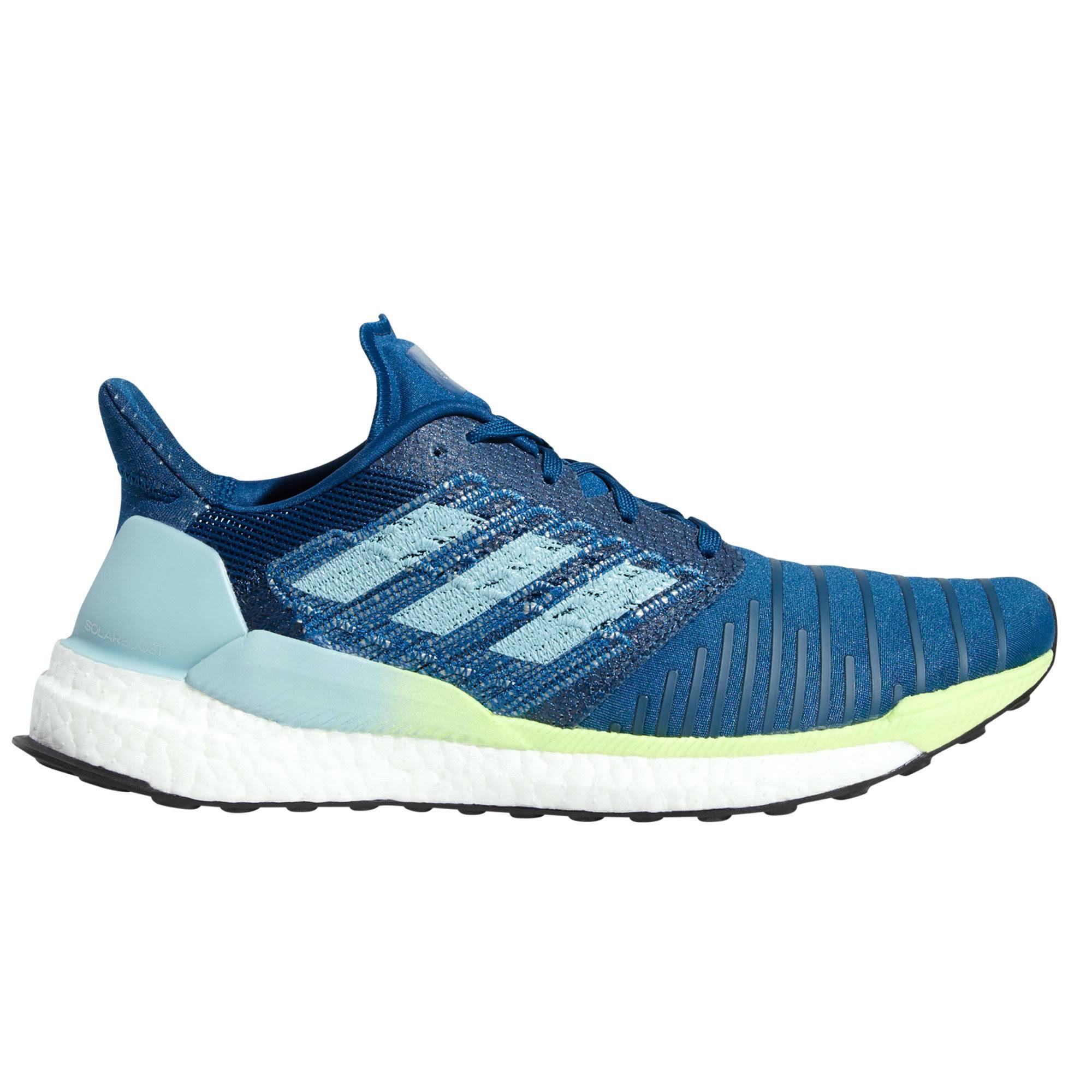 (Blue, UK 7) adidas Solar Boost Mens Fitness Running Trainer Shoe Blue/Yellow