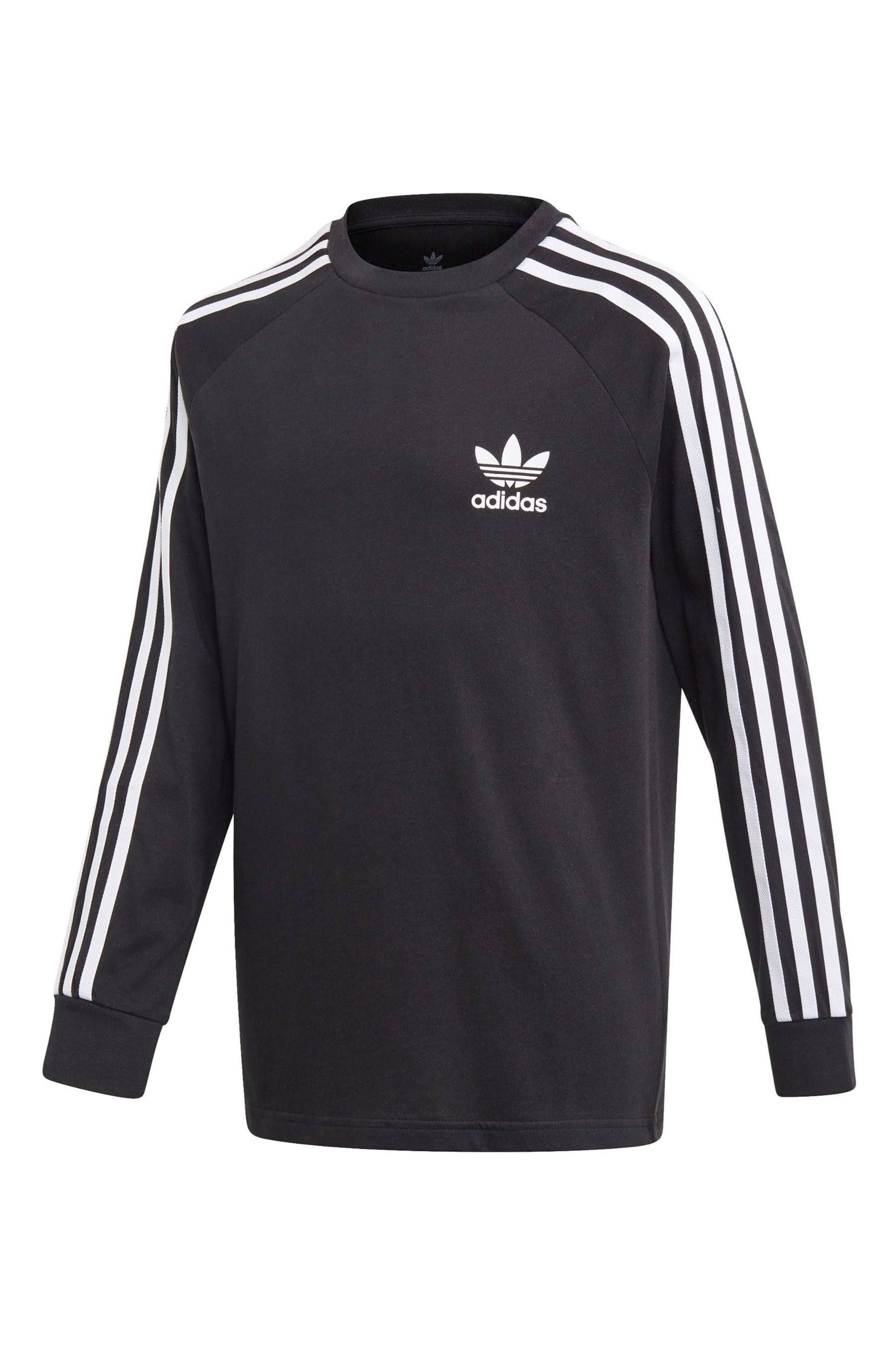 Adidas 3-Stripes Long-Sleeve Top - Black - Kids