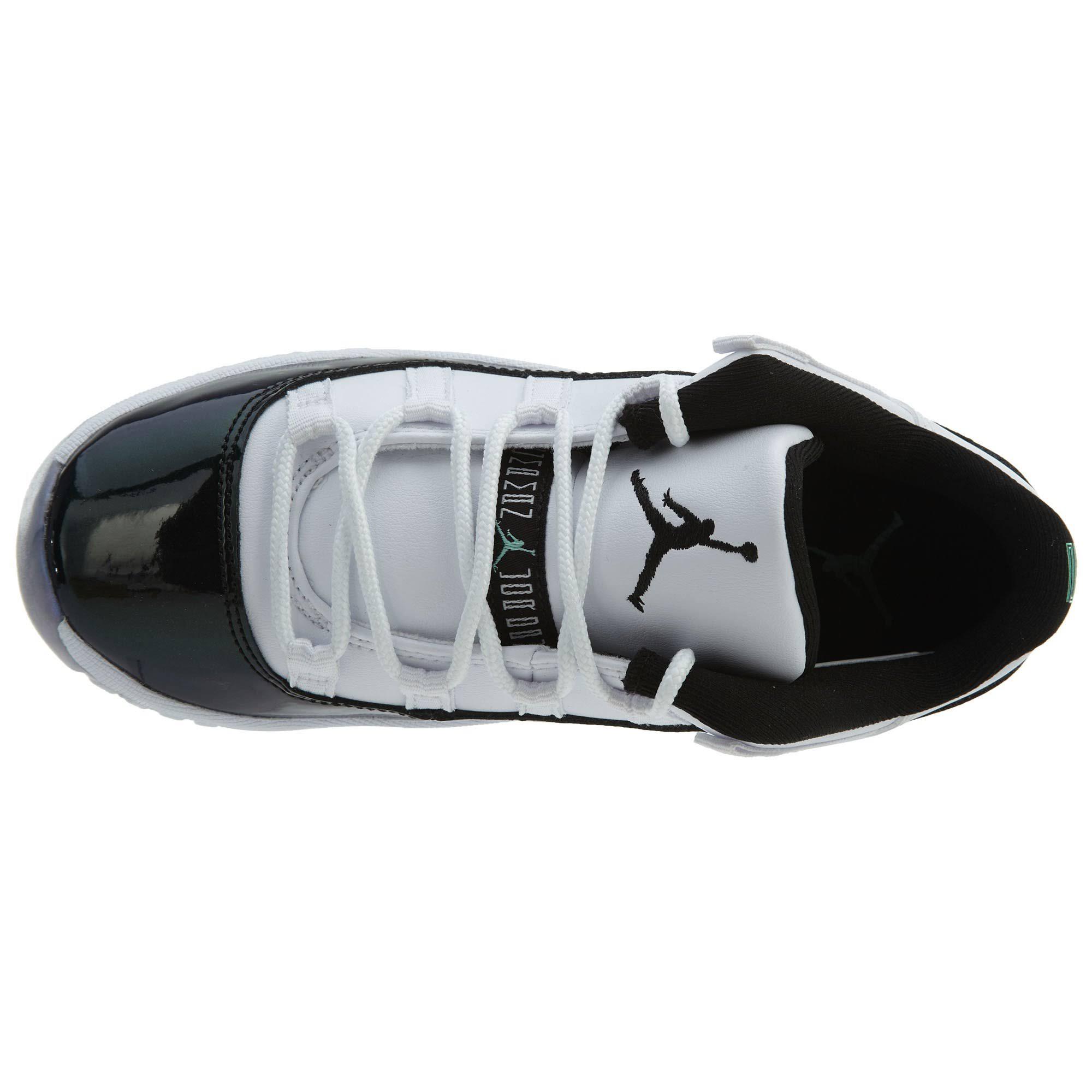 Jordan Bajo Negro 11 5 Esmeralda Blanco Aumento esmeralda Negro Iridiscente 1 Retro rfxgdnf