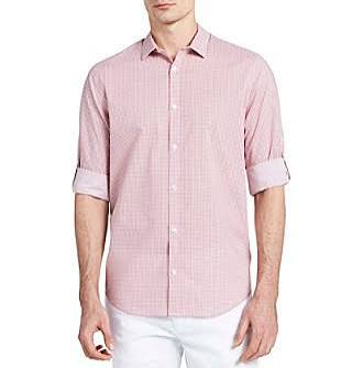 Hombre Calvin Para 2xl Coralliumred Enrollables Con Klein Botones Regular Camisa RxO1w7RSqA