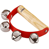 Nino Sleigh Bells with Wooden Ergo Grip & 4 Bells Red