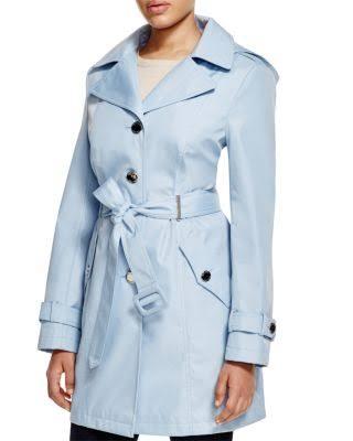 Real Klein Azul Cinturón Coat Trench Con Calvin PdwSqP