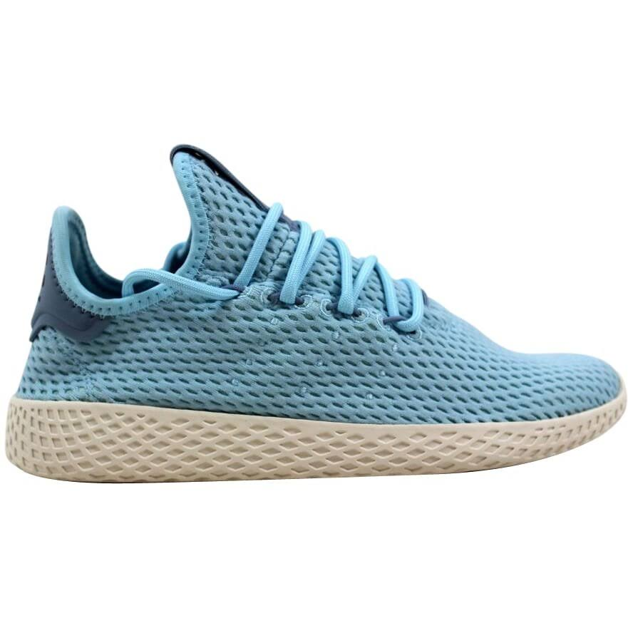 (5.5) Adidas Pharrell Williams Tennis Hu J Ocean Blue/White CP9802 Grade-School