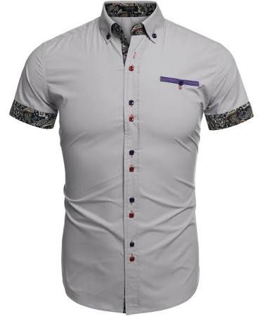 Slim Lässig Herrenmode Coofandy Shirt Dress Fit xCqTggwY
