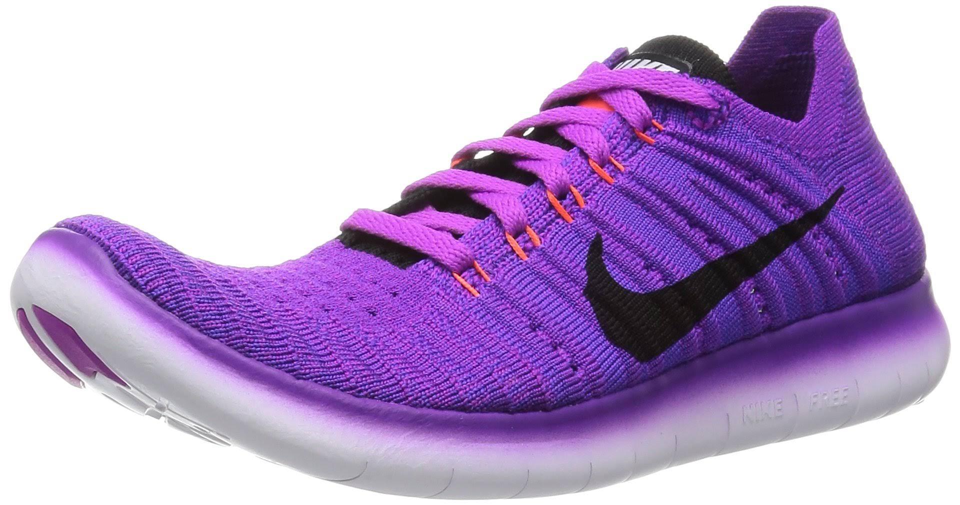 Nike Zapatillas 8 Running Violeta Flyknit Mujer Negro 5 Free Rn De Tamaño Para 4ErzqW4