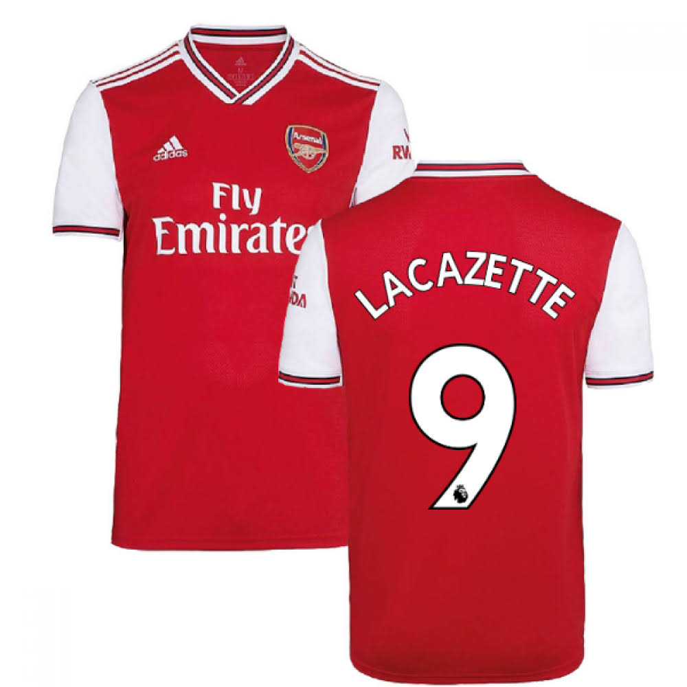 2019-2020 Arsenal Adidas Home Football Shirt (Kids) (Lacazette 9)