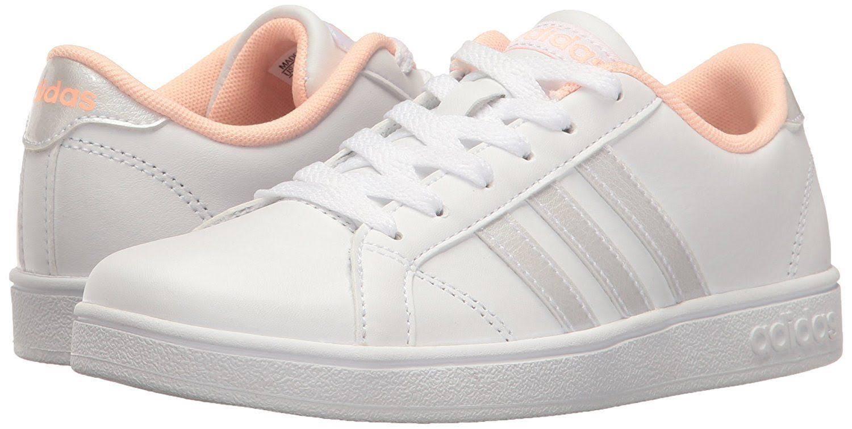 Adidas white Coral White White Bc0138 haze Baseline Kids coral Sneaker white pIr6pq