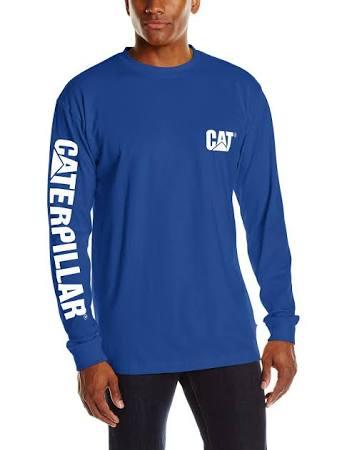 Regular Camiseta Larga De Banner Manga Men's Trademark Caterpillar Sxpq0HH