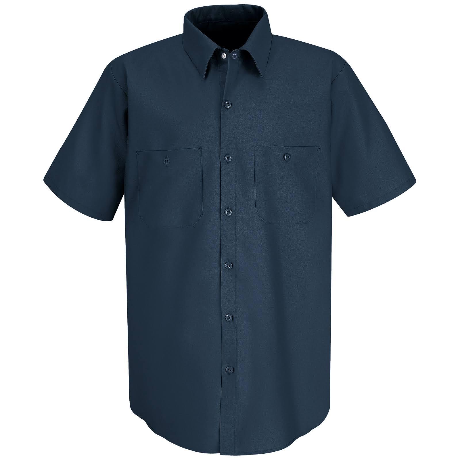 Red Kap De Regular Corta Industrial Corte Camisa Manga Hombre Trabajo Para waHXqFxq