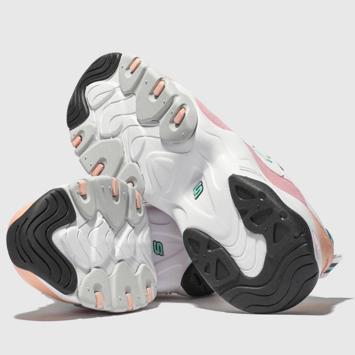 D'lites 3 Sneaker Skechers White Witrozeblauw 0 OkuPTXZi
