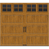 Clopay Gallery Collection 8 ft. x 7 ft. 6.5 R-Value Insulated Ultra-Grain Medium Garage Door with SQ22 Window