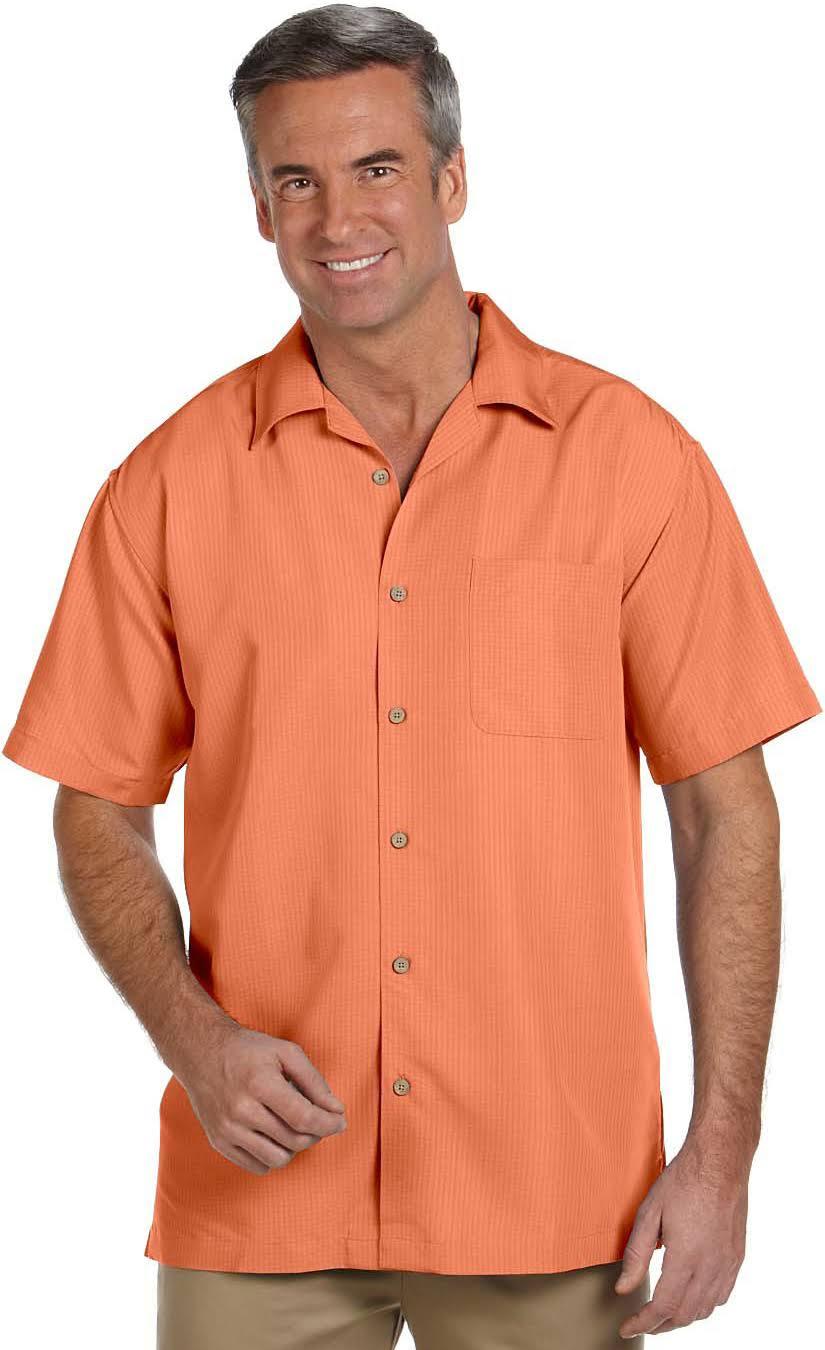 M560 Harriton Naranja Camisa Con De Textura Para Hombres Campamento Barbados dvTzrqvw