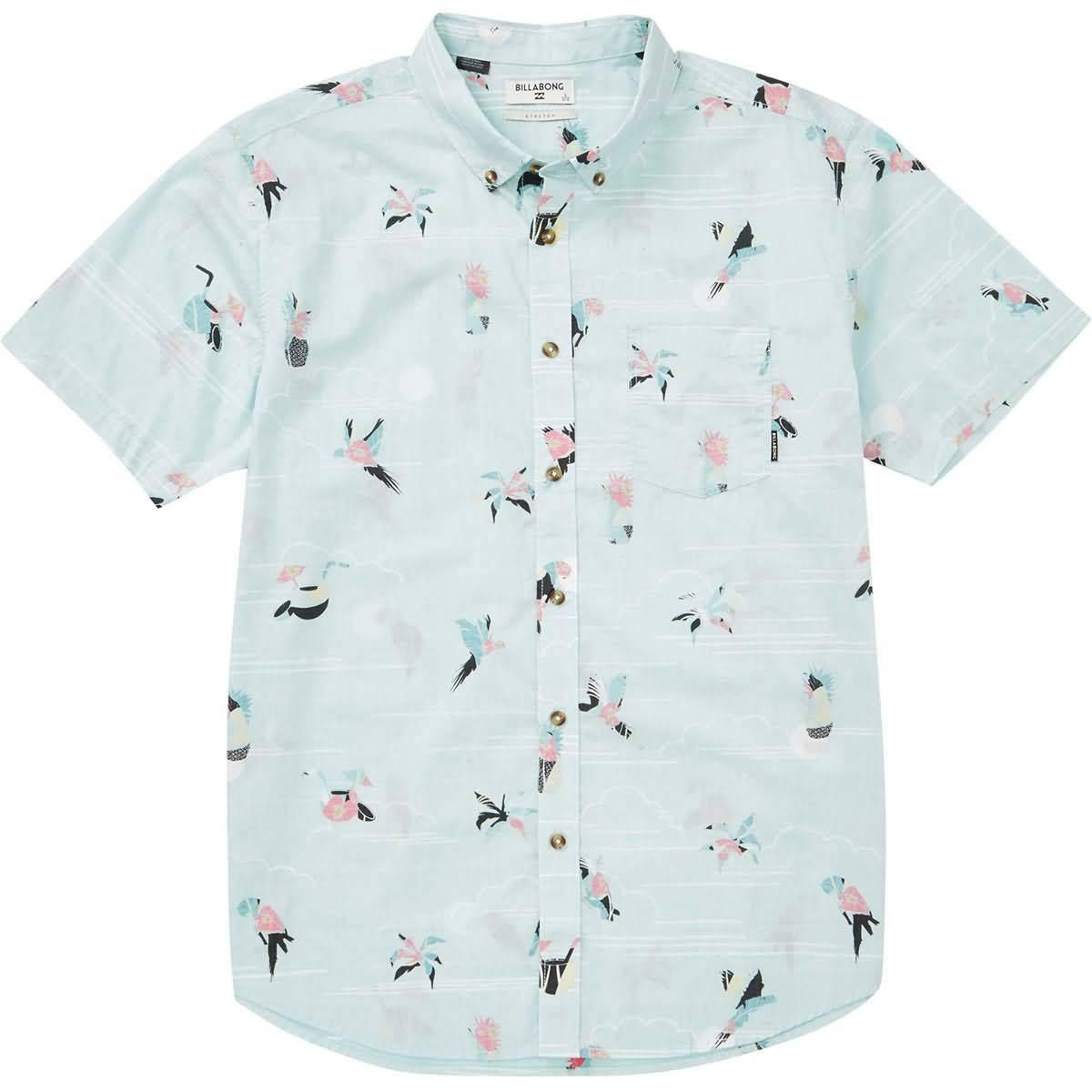 Camisa Para Billabong Medium Manga Mint Hombre De Corta Sundays Tejida IaxBwaf