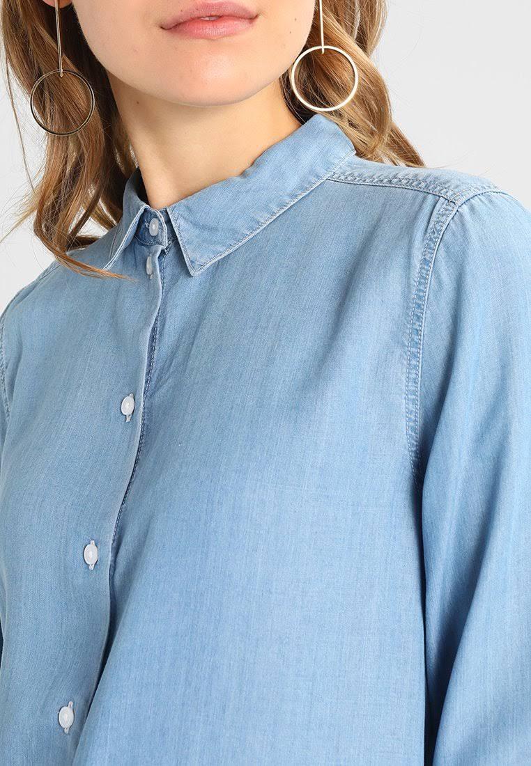 Camisa De Femme Mezclilla Larga Azul Selección rrnAvU