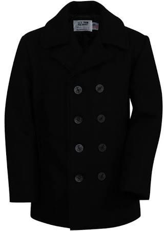 Tallas Negro Pea Talla Hombre Classic Nyc En Coat De 740b Melton Schott 16 w6pqvn0