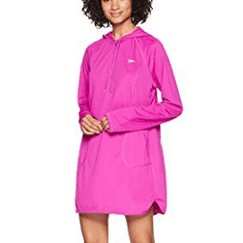 Speedo Women's Coverup Hoodie Dress, Very Fuchsia, Medium