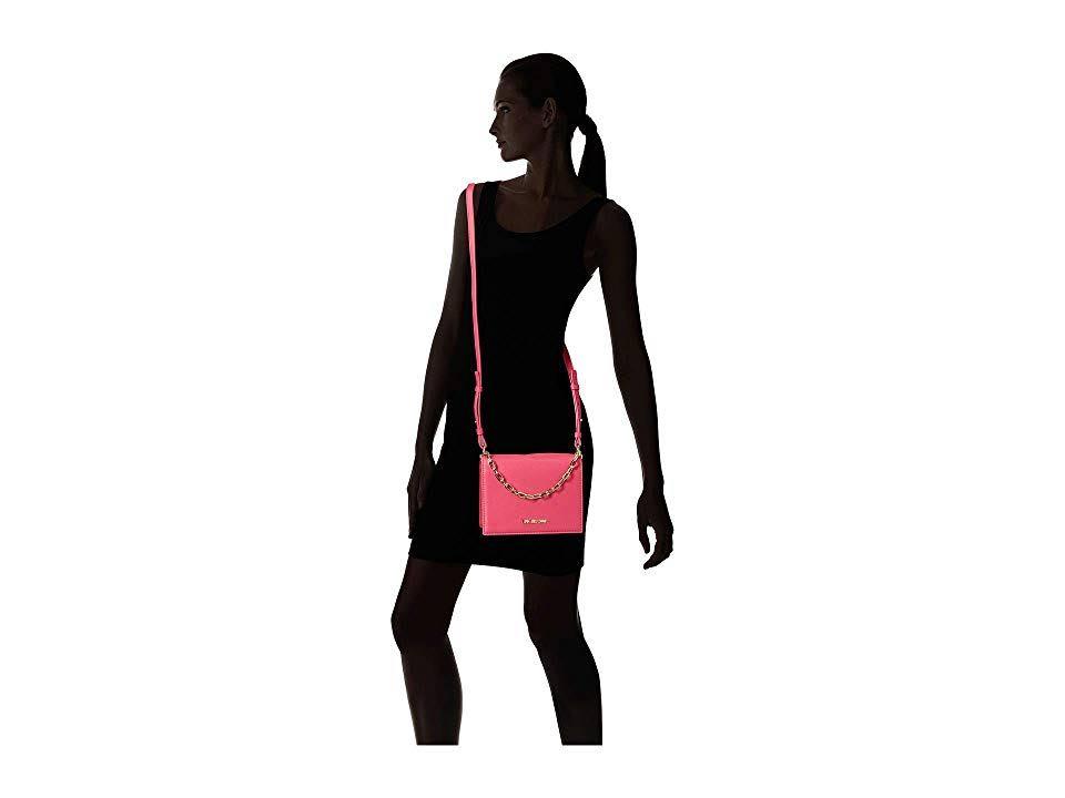 a Love tracolla a Moschino luminose rosa tracolla Borse con unica catena Fuchsiataglia vNmnw80