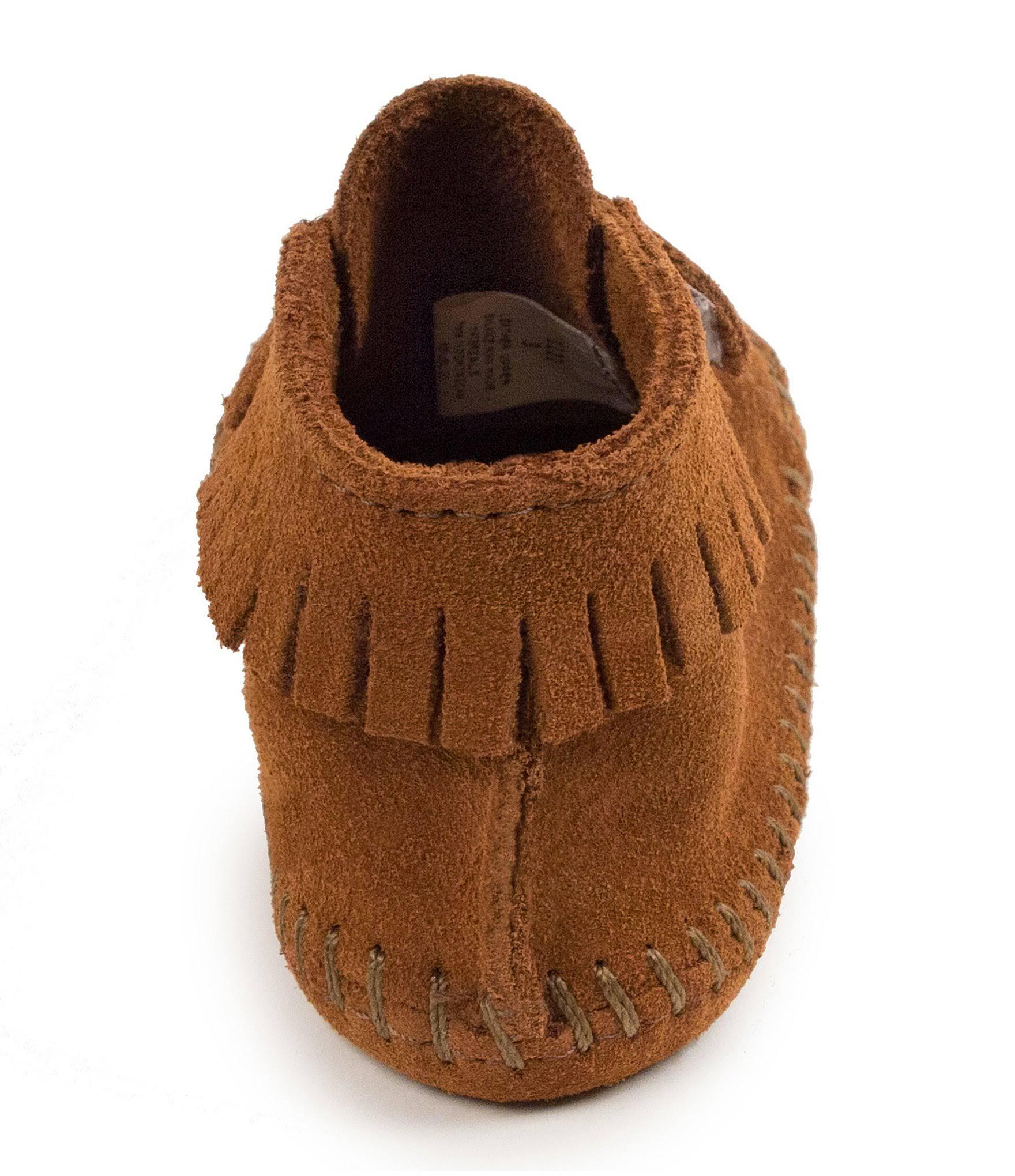 Jungen 1122 5 Wildleder Infant Weichem Minnetonka Stiefel Frontriemen Brown Aus FPqxwnRp4v