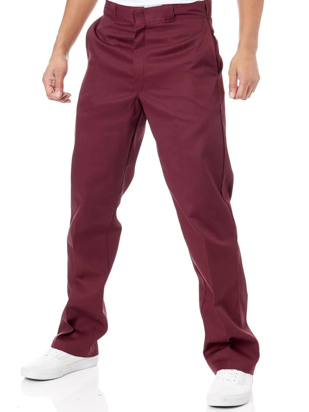originale Pantalone da 874 Dickies Maroon lavoro Röd TKlJcF13